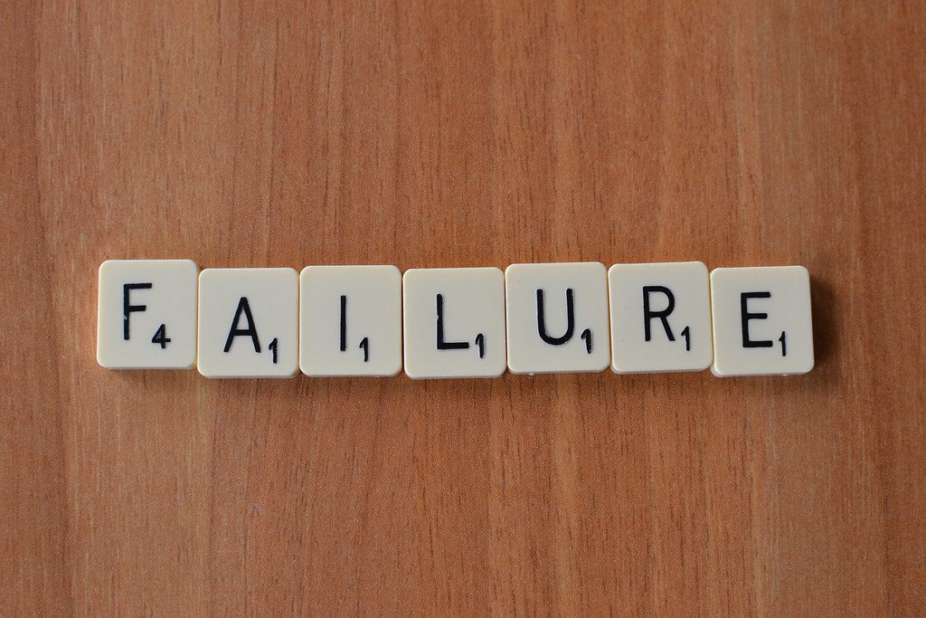 It's natural to fail particularly when we're trying  something new